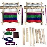 Senteen Telai Tessitura, 2pcs Telaio Tessitura a Mano Legno Weaving Loom Lavori a Maglia a Mano Creative Kit Perfezionare per Principianti e Bambini
