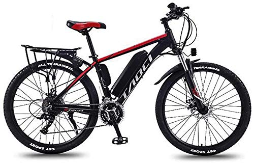 GMZTT UNISEX BICICLEY Adultos de 26 pulgadas Bicicletas de montaña eléctrica, marco 36V batería de litio de aleación de aluminio, con multi-función de pantalla LCD de 5 velocidades de asistencia eléct