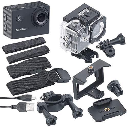 Somikon Unterwasserkamera: HD-Action-Cam DV-1212 V2 mit Unterwasser-Gehäuse, IP68, bis 30 m (Camcorder)