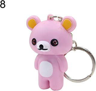 Cute Cartoon Animal Keychain Pendant Handbag Light Music Gift Portable Unisex GlobalDeal