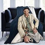 Gaodim Jared Padalecki Super Sam Winchester Natural Jensen Ackles Dean Winchester Misha Collins Super Soft Blanket, Light Plush Bed Blanket, Suitable for Adults and Children to use 50' x40