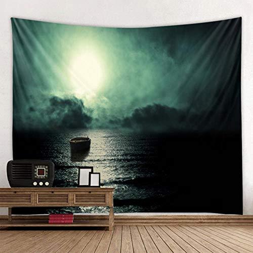 Universo galaxia hermosa aurora luna bajo el cielo nocturno impresión de fondo tapiz decoración de la pared tela bohemia hippie