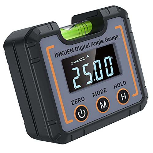Inkuen P21 Digital Electronic Level and Angle Gauge, Angle Finder with Magnetic Base, High Contrast Display for All Environment, Measuring Tool for Carpentry, Building, Automobile, Masonry etc
