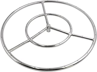 Skyflame 18-Inch Round Fire Pit Burner Ring, 304 Stainless Steel