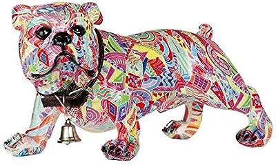 HOMEA 5dej1232gr Statue Design Bulldog Grey Polyresin 24.5/x 18/x 27.5/cm