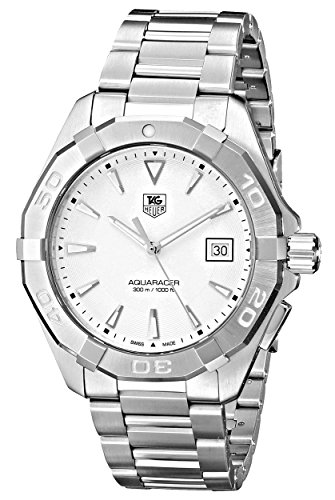 TAG Heuer Men's WAY1111.BA0910 Silver-Tone Stainless Steel Watch