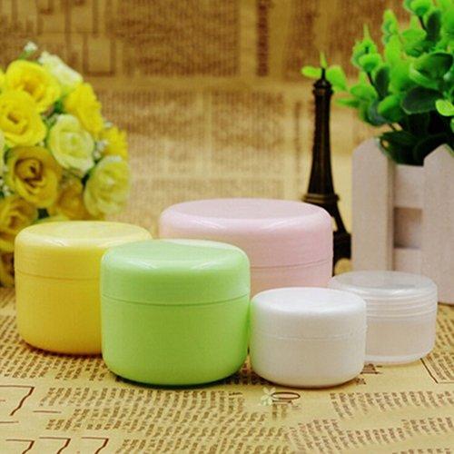 Ruby569y Lot de 5 Pots de Maquillage vides pour Le Visage, crème/Lotion/cosmétique Vert 20, Plastique, Rose, 100