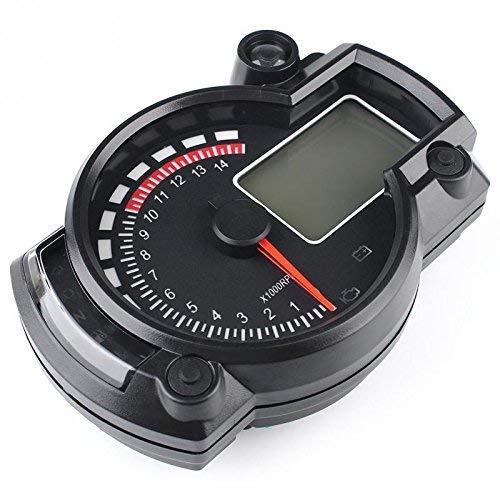 YISUNF Digital Tachometer 7-Farb-LED-Motorrad RX2N ATV LCD-Digital-Tachometer Tachometer Meter 15000rpm