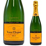 Personalised Veuve Champagne Bottle Engraved Gift/Cliquot/Birthday Wedding Anniversary Retirement/Gold/75 Centilitre