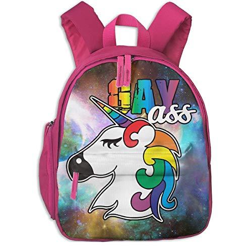 Gay Pride Gay Ass Kids' Lightweight Canvas Travel Backpacks School Book Bag