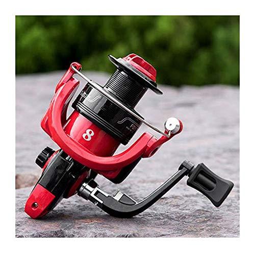 yingweifeng-01 Eje Carretes de Pesca de Velocidad 5.0: 1 4.7: 1 Carrete de Pesca de Rueda giratoria para la Carpa Bass Pike Black Red Pesca (Spool Capacity : 1000 Series)