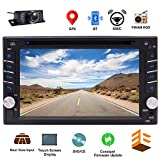 EINCAR Bluetooth Car Stereo System CD DVD Player with 6.2 Inch Capacitive Touch Screen in Dash GPS Navigation Double Din Head Unit 2DIN Radio Receiver Auto Audio Video Monitor USD Map + Backup Camera