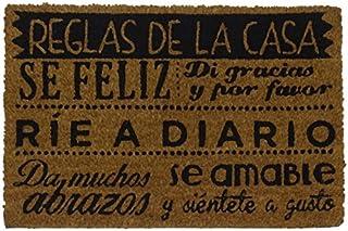 comprar comparacion koko doormats Felpudo con Diseño Reglas de la Casa, PVC, Coco, 60 x 40 cm