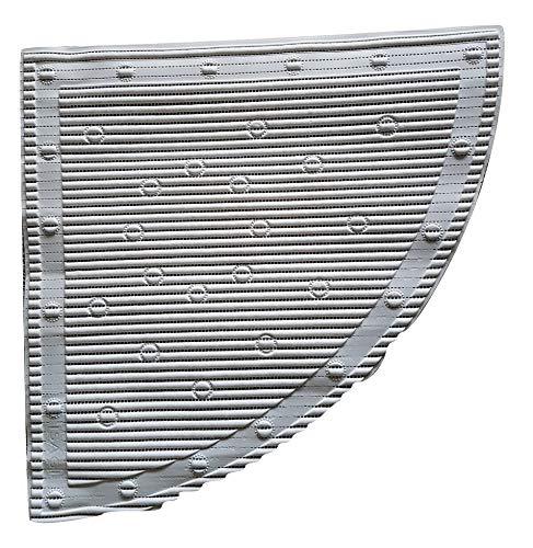 Alfombrilla antideslizante para ducha de esquina, 597 x 597 mm, color blanco, de Stay Put
