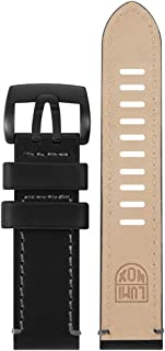 Luminox Men's 1801.BO Field Series Black & Gray Leather Strap Stainless Steel Buckle Watch Band