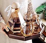 Juego de vasos de whisky, cristal, vidrio sin plomo, estilo nórdico, corcho, juego de decantador entregado a tiempo, regalo para hombres-Estilo1