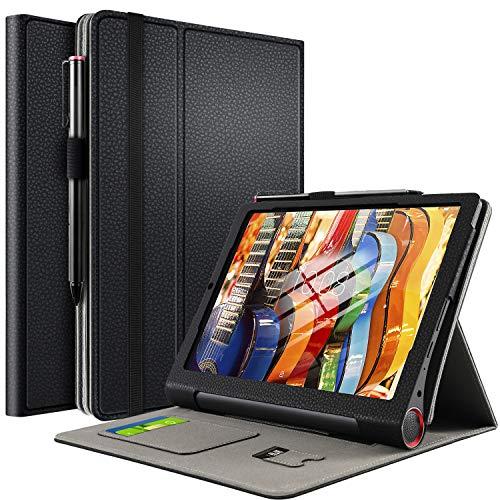 IVSO Hülle für Lenovo Yoga Smart Tab, Smart Shell Cover Tasche Schutzhülle mit Standfunktion Ideal Geeignet für Lenovo Yoga Smart Tab 2019 Tablet PC, Schwarz