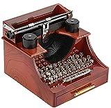 Caja de música de Estilo Vintage con Forma de máquina de Escribir con cajón Caja de música mecánica,Regalo de cumpleaños de Navidad
