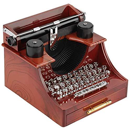 Carillon macchina da scrivere stile vintage con cassetto Scatola portaoggetti per gioielliere Gioielliere per San Valentino Regalo di Natale Decorazioni per la casa