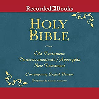 The Holy Bible     Old and New Testament              By:                                                                                                                                 The American Bible Society                               Narrated by:                                                                                                                                 George Guidall,                                                                                        Suzanne Toren,                                                                                        Jonathan Davis,                   and others                 Length: 107 hrs and 43 mins     101 ratings     Overall 3.8