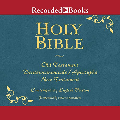 The Holy Bible     Old and New Testament              Written by:                                                                                                                                 The American Bible Society                               Narrated by:                                                                                                                                 George Guidall,                                                                                        Suzanne Toren,                                                                                        Jonathan Davis,                   and others                 Length: 107 hrs and 43 mins     1 rating     Overall 5.0