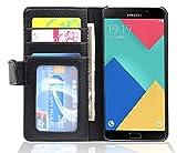 Cadorabo Funda Libro para Samsung Galaxy A5 2016 en Negro ÓXIDO - Cubierta Proteccíon con Cierre Magnético e 3 Tarjeteros - Etui Case Cover Carcasa