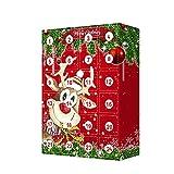 Closhion Calendario Avvento per Bambini, 2021 Natale Calendario dell'avvento con 24 addobbi Natalizi, Natale Regali Bambini (A)