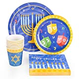44PCS Hanukkah Party Supplies Set - Holiday Chanukah Party Decorations Favors Plates Cups Napkins