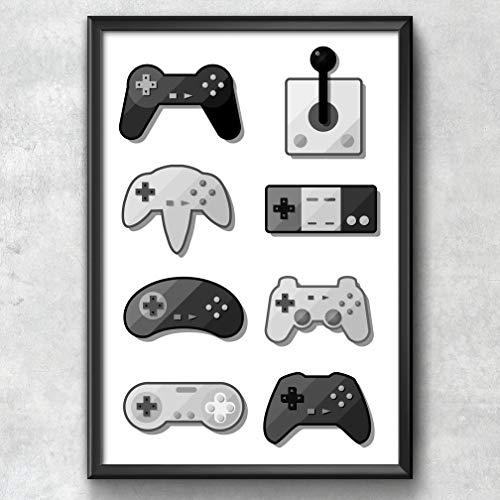 Game Pad Print, Gaming Poster, Gaming Art, Gaming Wall Art, ...
