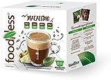 FoodNess 50 Cápsulas Dolce Gusto Macazno sin gluten, lactosa y azúcares añadidos + regalo para el café Borbone.
