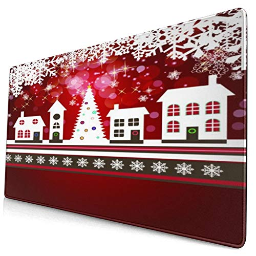 LASINSU Alfombrilla Gaming,Belleza Abstracta Fondo de Navidad y año Nuevo con Little...