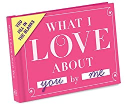 Knock Knock What I Love About You- With this fill-in personal gift book you will easily create the perfect Valentine's gift I'm sure your partner will love!