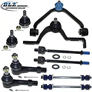 DLZ 10 Pcs Front Suspension Kit-2 Upper Control Arm 2 Lower Ball Joint 2 Inner 2 Outer Tie Rod End Compatible with Mazda B3000 B4000 1998-2001/Ford Explorer Ranger 1998-2001#CK8708T K8695T EV317
