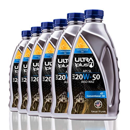 Ultra1Plus SAE 20W-50 Conventional Engine Oil 4T, API SL, JASO MA2   6 Pack QT