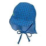 Sterntaler Baby-Jungen Schirmmütze mit Nackenschutz Krokodil Sonnenhut, blau, normal
