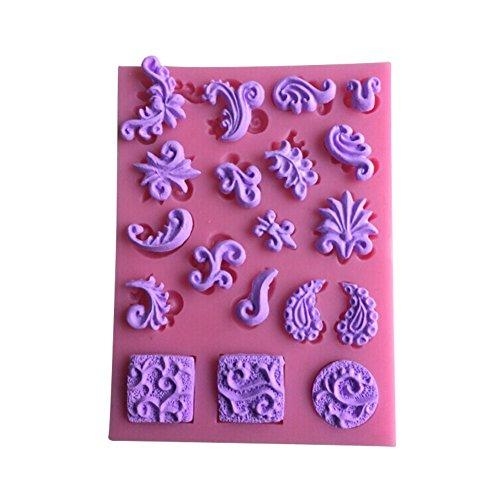 Karen Baking New Kuchen bearbeitet Schöne Blume und Blatt-Form-3D Silikon Backform für Kuchen-Fondant Dekorieren