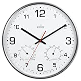 Acctim 29148 Komfort - Reloj de pared (metal, termmetro e higrmetro).