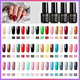 48 Couleurs Vernis Gels Semi Permanent - ROSALIND Vernis à Ongles Gel Lot Nude