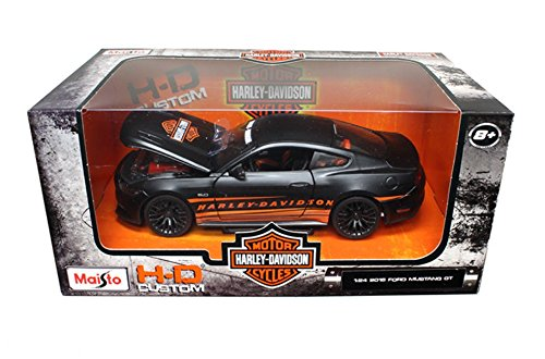 Maisto Harley Davidson 2015 Ford Mustang GT 5.0 1/24 Toy, Black