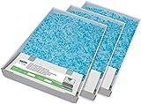 PetSafe - Bac de Rechange Litière Absorbante et Anti-Odeur pour Chat Scoopfree Cristal Bleu - Paquet de 3