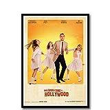 WEUEWQ Poster Quentin Tarantino Es war einmal in Hollywood