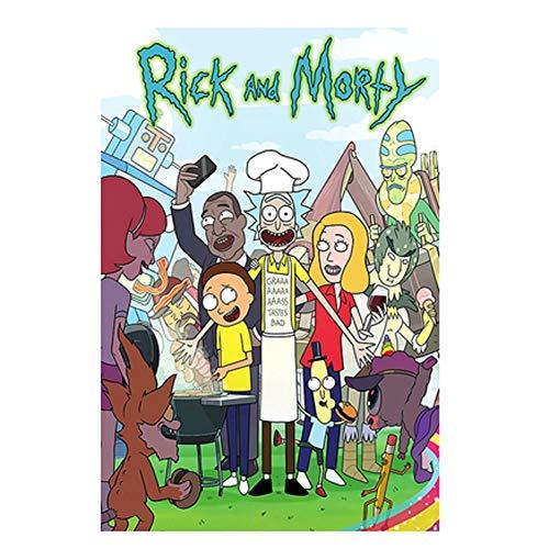 VAST Juegos de Puzzles, Rompecabezas Temas Conjuntos for la Familia, Juegos de Reto, 300 ~ 1000 Piezas Animado Rick y Morty Puzzles de Dibujos Animados 523 ( Color : B , Size : 500pc )