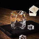 DFHFGH Elegantes Vasos de Cristal, Vaso Giratorio, Vaso de Cristal clásico, diseño Creativo de Forma Irregular, Buen Regalo para Navidad, 300 ml-style2