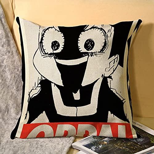 Mineta Master of Oppai Anime Funda de Almohada Suave Funda de Almohada Decorativa para el hogar para la Cama Dormitorio Sala de Estar Funda de Almohada Lona Funda de cojín para sofá 45x45cm
