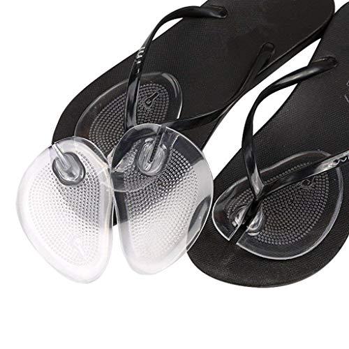 3 Paar Silikon Gel Thong Sandale Spreizer -Flip-Flop Gel Zehenschutz Kissen