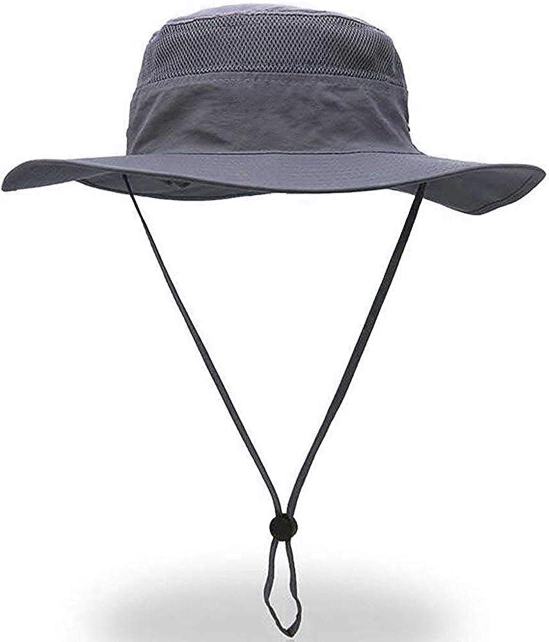 ストライク連合バナーサファリハット メンズ レディース ハット 帽子 通気性抜群 防水ブラック