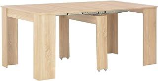 Tidyard Table à Dîner/Table de Salle à Manger (2 Positions Extensibles) Style Naturel Chêne Sonoma 175 x 90 x 75 cm