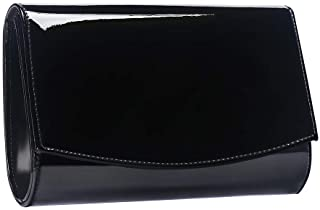 Women Patent Leather Wallets Fashion Clutch Purses,WALLYN`S Evening Bag Handbag Solid Color