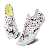 Women Men Water Sports Barefoot Quick-Drying Yoga Socks Surfing Swimming Shoes 8.5 M Us Women / 7 M Us Men White Pink