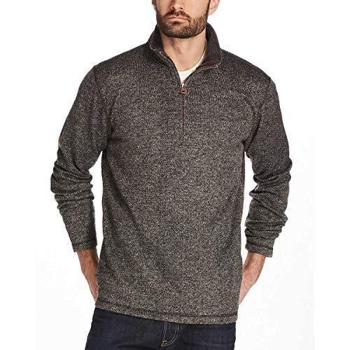 Weatherproof Vintage Men's ¼ Zip Sweater Fleece Pullover (M, Grey)